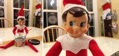 Elf on the Shelf idea - Elf eating ice cream