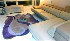 Custom area rugs One-of-a-kind piece, featuring two religious symbols