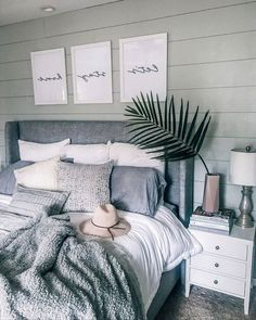 Shop The Look: Mid-Century Bedroom Decor Edition! - - Mid-Century Bedroom Decor: Why and How You Can Have It In No Time Decorating a bedroom seems a burden to many people. Well, we're here to gather your thoughts. Stylish Bedroom, Cozy Bedroom, Home Decor Bedroom, Bedroom Furniture, Master Bedroom, Master Suite, Indie Bedroom, White Bedroom Decor, Bedroom Rugs