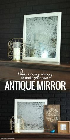 Easy DIY Antique Mirror Tutorial | IKEA Hack | How to turn a picture frame into a mirror