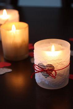 DIY Valentine Candle Holder