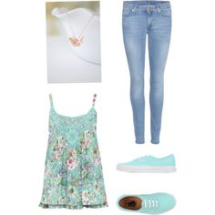 Untitled #26 by jessie35124 on Polyvore featuring polyvore, fashion, style, M&Co, 7 For All Mankind and Vans