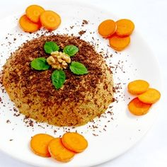 The popular breakfast or snack for kids and adults. Fresh combination of carrots and nuts grately cooperates with sweet chocolate. Nutritious food for the brain cells, beautiful skin and good mood.