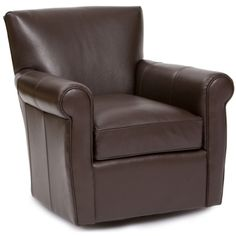 furniture elegant brown leather swivel chair custom home office