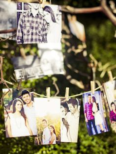 Cute way to display your engagement photos
