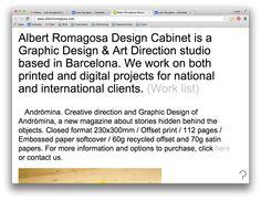 http://albertromagosa.com — large text