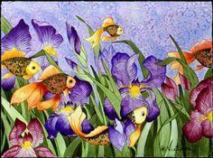 Goldfish and Iris