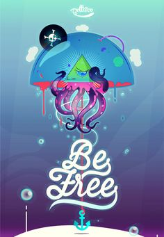 Be Free by Pellisco, via Behance
