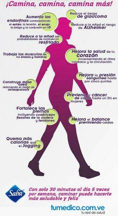 Mira todos los beneficios que caminar 30 minutos al día trae a tu salud