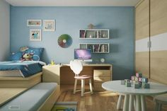 Pretty blue paint for kid's room