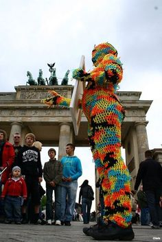 Olek #crochet #art in Berlin - 2010