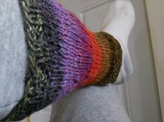 Women's Striped Noro Leg Warmers by TrulyWoollyKnits on Etsy, $32.00