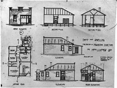 Architect plans for a house with shop at Frankton Junction Hamilton, Floor Plans, Snow, Colours, Train, How To Plan, History, Building, House