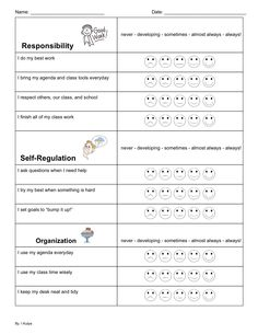 Learning Skill Reflection (part 1 of Learning Goals, Learning Resources, Teaching Tips, Teacher Resources, Learning Skills, Classroom Organization, Classroom Management, Classroom Ideas, Class Management