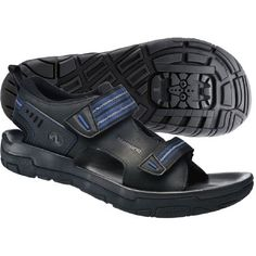 Shimano SD66 SPD Sandals Offroad Shoes The SD66 has a classic dual strap sandal design for a secure, cool and comfortable fit. The natural leather outer is coupled with mesh layering for a soft feel with great moisture wicking properties.  http://www.MightGet.com/january-2017-11/shimano-sd66-spd-sandals-offroad-shoes.asp