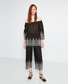 ZARA - NEW IN - EMBROIDERED TOP