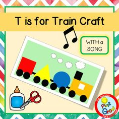 T is for Train Craft Preschool, Pre-K and Kindergarten Train Crafts Preschool, Kindergarten Crafts, Preschool Ideas, Alphabet Letter Crafts, Alphabet Book, T Is For Train, Letter Song, Z Craft, Teaching The Alphabet