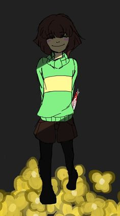 Hello,I'm Chara!Nice to meet you!NOT!I'M CHARA,THE DEMON WHO COMES WHEN YOU CALL ITS NAME!(Played by me)