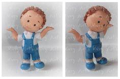 Little boy Fondant Figures, Fondant Cake Toppers, Fondant Baby, Clay Figures, Homemade Polymer Clay, Polymer Clay Cat, Polymer Clay Creations, Baby Boy Cake Topper, Baby Boy Cakes