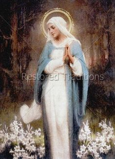 High Res Download | Our Lady Among the Flowers | Restored Traditions