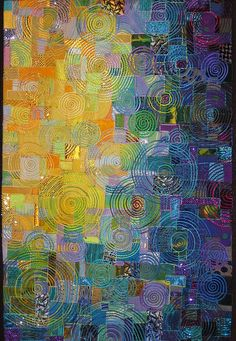 Award Winning Art Quilter Carol Taylor Is A Master At This Her Arc I Texture Series Like Sunlit Left Is Made Up Of Small Abstract Quilt Squares With Abstract Art Quilt Patterns Abstract Art Quilts Ab Quilting Projects, Quilting Designs, Quilting Ideas, Crumb Quilt, Quilt Modernen, Circle Quilts, Contemporary Quilts, Free Motion Quilting, Crazy Quilting