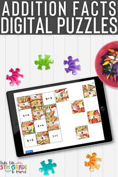 Are your students struggling with addition facts fluency? TThes digital puzzles are fun and engaging and guarenteed to help your students master addition! These addition facts digital puzzles are no prep and self checking! These math puzzles are so versatile- you can use them for independent work, partner work, centers or even distance learning! All you need is a device and internet to play these! Great practice on those math problems! Help Teaching, Teaching Resources, Math Fact Practice, Math Websites, Addition Facts, Math Strategies, Fun Math Games, Maths Puzzles, Early Finishers