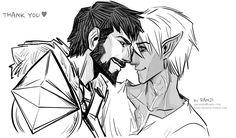 Dragon Age II    Hawke/Fenris, by danji-doodle @ tumblr