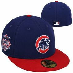 New Era Chicago Cubs Baycik Alt 59FIFTY Fitted Hat - Royal Blue Red 758c66cfafe