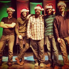 Getting ready for the first show of our Christmas tour! #hohohomefreechristmas — with Chris Rupp, Rob Lundquist, Tim Foust and Adam Rupp.