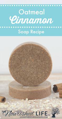 DIY Skin Care Recipes : Homemade Oatmeal Cinnamon Soap Recipe -Read More – Diy Soap Oatmeal, Homemade Oatmeal, Homemade Skin Care, Homemade Beauty Products, Diy Skin Care, Diy Peeling, Diy Savon, Lotion Recipe, Soap Making Supplies