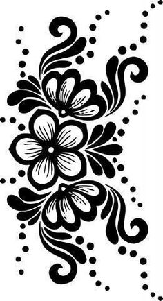 Billedresultat for papercut template akantus Stencil Patterns, Stencil Designs, Embroidery Flowers Pattern, Flower Patterns, Glass Etching Stencils, Border Pattern, Flower Doodles, Leather Pattern, Pretty Wallpapers
