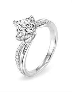 THIS IS MY DREEEAAAMMM Ring! I have ALWAYS wanted princess cut but turned sideways! Maybe a wider band though, but AHH