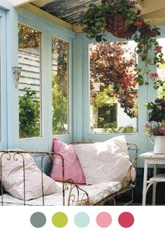 i love the idea of encloisng the end of my verandah - not realistic though, but this is beautiful