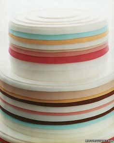 This colorful cake gets an artistic swirl of stripes