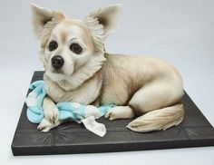 This dog cake looks so real :)
