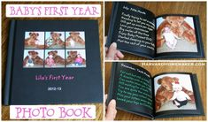 """First Year Photo Book:  take a picture each month on your baby's """"month birthday"""" and keep track of the milestones that month.  At the end of the year, put a quick book together and give to your child as a special first birthday gift.  A great alternative to keeping up with a baby book if that's not for you!  :)  #baby #birthday #harvardhomemaker"""