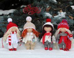 Christmas doll READY Winter doll Fabric doll by AnnKirillartPlace