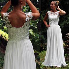 Svadobné šaty z hrubej krajky