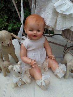 Dollhouse Dolls, Miniature Dolls, Big Baby Dolls, Retro Baby, Bear Doll, Vintage Paper Dolls, Old Dolls, Antique Toys, Doll Accessories