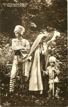 Crown Princess Marie of Romania - wife of the future King Ferdinand, with two of her children, Prince Carol (later Carol II of Romania) and Prince Nicolas. Mary I, Queen Mary, Princess Victoria, Queen Victoria, Michael I Of Romania, History Of Romania, Romania People, Romanian Royal Family, Central And Eastern Europe