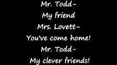 Sweeney Todd- My friends (lyrics) - YouTube