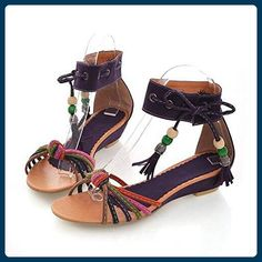 d478b252cdf 13 euro incl shipping 2014 Flat Heel Sandals Shoes Beaded Lacing Gladiator  Small Wedges Shoes 3 Color Bohemia casual shoes Big 43 Sandals from Sho.