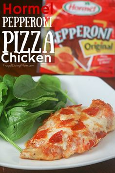 Are you tired of the same old chicken like we are? Chicken is a great meal but it's easy to get wrapped up in making the same dishes over and over! Try this Pepperoni Pizza Chicken. #spon