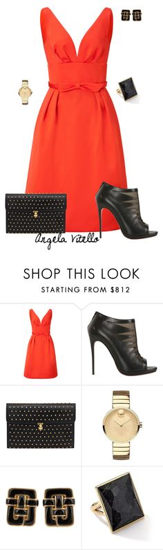 """""""Untitled #645"""" by angela-vitello on Polyvore featuring ESCADA, Christian Louboutin, Alexander McQueen, Movado, Angela Cummings and Ippolita"""