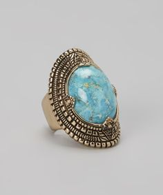 Take a look at this Bronze & Turquoise Ring by Barse on #zulily today!