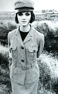 Grace Coddington photographed by David Montgomery for Elegance magazine, January 1964.