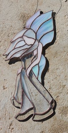 STAINED GLASS Breeze the Wind Drift Fairy by themerrymusemarket, $50.00