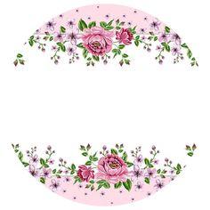Flores Bullet Journal Banner, Bullet Journal Art, Eid Crafts, Flower Crafts, Flower Background Wallpaper, Flower Backgrounds, Flower Circle, Flower Frame, Cake Logo Design