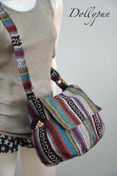 Hippie messenger bag Nepali Hmong Camera Boho Purse by Dollypun, $14.98
