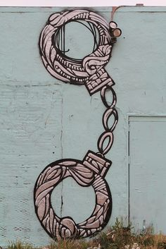 Handcuffs Street Art Melrose West Hollywood